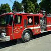 Sandy Hook Volunteer Fire & Rescue Company's Engine 443 is shown parked along Riverside Road near the company's main firehouse, after having been put into service for firefighting. The fire company recently purchased the truck from the Town of Southbury and refurbished it. Engine 443 replaces a fire truck that was heavily damaged when a tree fell onto it during Superstorm Sandy in October 2012. (Gorosko photo)