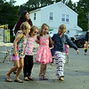 Dancing together at the annual Botsford Fire & Rescue Summer Bash and trying to coordinate their steps were friends, from left, Elizabeth and Lucy Sheridan, Liliana Lucas and Elisabeth Dardis. (Bobowick photo)
