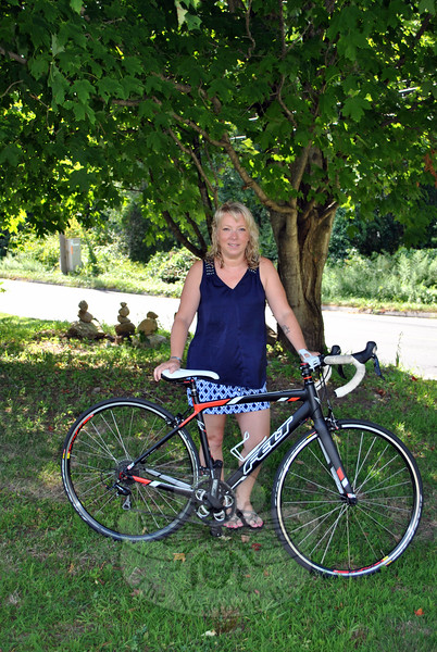 Taking on the challenge of a triathalon, as she has challenged others to do in memory of her son, Chase, Rebecca Kowalski will compete in the Women's Sprint Triathalon, Sunday, August 30. (Crevier photo)