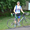 Newtown resident David Prud'homme will swim, bike, and run as Chase Kowalski, number 1214, in the Cambridge, Md., Ironman competition, October 3. The father of five, Mr Prud'homme has been in training for a year. (Crevier photo)