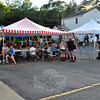 Tents were set up for people to eat under during Botsford Fire Rescue's Annual Fundraiser/Summer Bash. (Hallabeck photo)