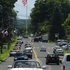Looking southward on Main Street toward the flagpole intersection midday on Wednesday, August 5. The Police Commission will have a traffic consultant study what changes could be made to the flagpole intersection to reduce traffic congestion and improve travel safety.  (Bee Photo, Gorosko)