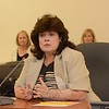 Board of Education members on July 30 unanimously approved hiring Jean M. Evans Davila of Shelton as the school system's new assistant superintendent. Ms Davila, shown addressing the school board following her hiring, currently is a school administrator for the Norwalk public school system. She replaces Linda Gejda, who recently left her Newtown post to become Stratford's assistant school superintendent.  (Bee Photo, Gorosko)