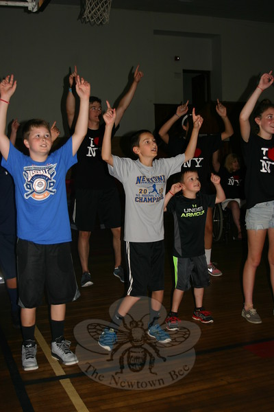 "Children attending Faith at Newtown's Vacation Bible School spent part of Thursday, July 23, singing along and dancing to a song they had learned called ""Say Yes To VBS.""   (Bee Photo, Hicks)"