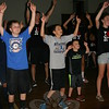 """Children attending Faith at Newtown's Vacation Bible School spent part of Thursday, July 23, singing along and dancing to a song they had learned called """"Say Yes To VBS.""""   (Bee Photo, Hicks)"""