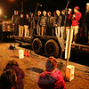 Newtown High School's XY Chromotones, an a capella all-male singing group, was one of three performance groups during the Ram Pasture Tree Lighting on December 4. (Hallabeck photo)