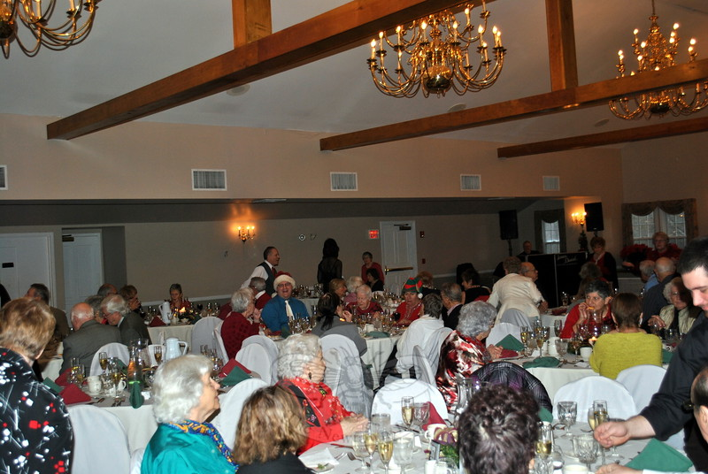 The Annual Senior Center Holiday Party drew a crowd of nearly 100 members, friends, and family to Michael's at The Grove, in Bethel, Tuesday, December 9. (Crevier photo)