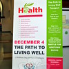 Vendors offer health and wellness suggestions to town employees, Thursday, December 4, at the Day of Wellness held in the Newtown Municipal Center. (Crevier photo)