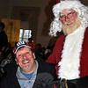 As happy as any kid, Stan Kokoszka is thrilled to pose with Santa Claus at the Annual Rotary Pancake Day, Saturday, December 6. (Crevier photo)