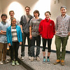 Newtown High School Junior/Senior Project students stood together on Monday, December 8, before practicing for their upcoming final presentations. Students pictured from left are Rachel Crosby, Brendan Qiao, Sean MacMullan, Dori Farley, Trevor Gaines, Joey Whelan, Sydney Allen, Reed Bryant, and Cassie Erikson. Student Chris Lafky was not present for the evening practice presentation. (Hal-labeck photo)