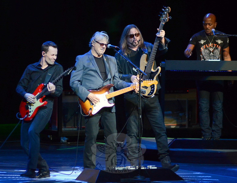 "Waterbury's Palace Theater was grooving to classic rock hit maker Steve Miller on November 15, on the occasion of the venue's tenth Anniversary since re-opening after a multi-million dollar rehabilitation. Miller delivered for every fan reproducing note-perfect renditions of ""Wintertime,"" ""Fly Like and Eagle"" and ""Swingtown,"" among the two dozen tunes on his set list. (Voket photo)"