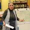 Rosa Zubizarreta of DiaPraxis of Great Barrington, Mass., served as the moderator/facilitator at a December 11 forum on the advisability of changing the town's zoning regulations to allow rental apart-ments at Fairfield Hills. (Gorosko photo)