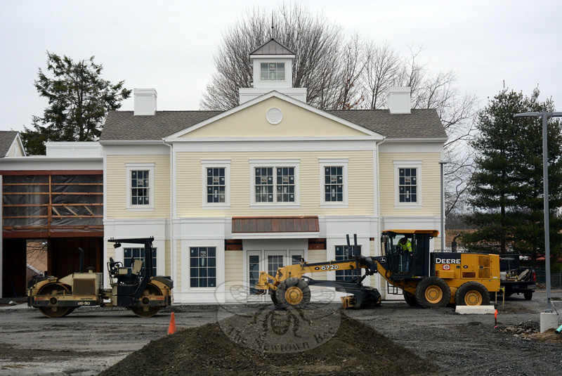 Heavy equipment was in use for site work at The Village at Lexington Gardens at 32 Church Hill Road, a commercial complex now under construction at the site of a former plant nursery and gift shop. (Gorosko photo)