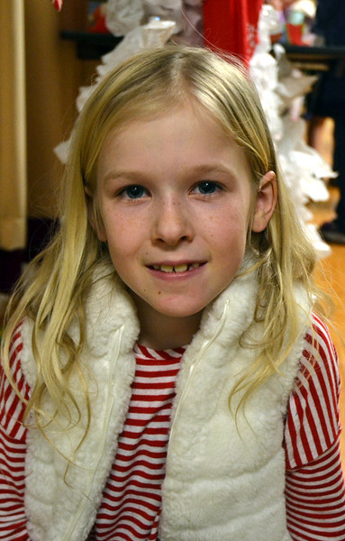 The Newtown Bee: If every child in the world could get one thing for the holidays, what would you want them to get? Lilly Plummer: A pony. (Hallabeck photo)