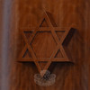 A wooden Star of David is displayed in the temple's sanctuary. (Gorosko photo)