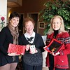 Avancé Esthétiques, in coordination with AIR Gallery, will present a special open house and community benefit on December 6. From 2 to 4 Sunday afternoon, the day spa in Sand Hill Plaza will host live music by Jim Allyn and students of The Music Workshop; a poinsettia sale; specials on spa services; food, drink and holiday cheer. A large part of the event will be a show and sale featuring fine art, small works, archival prints, artisal glass art and home accessories, and handcrafted wood pens and vases. Artwork by Adele Moros, Aline La Pointe and Laura Wilk, all members of The Society of Creative Arts of Newtown, will part of the celebration, as will glass pieces by Heidrun Morgan. The event will also introduce the work of artisanal wood craftsman Nicholas James. Holding some of the glass pieces that will be displayed on Sunday are, from left, Avancé Esthétiques Owner Melanie Allen; Newtown Woman's Club Tri-President Marie Sturdevant; and AIR Gallery Curator Rosemary Rau. Partial proceeds from Sunday's open house will benefit the woman's club, which has been dedicated to enriching the lives of others through volunteer services for over 45 years. (Hicks photo)