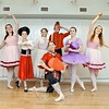 Standing from left is Arline Almeter (Ribbon Candy), Taegan Smith (Russian), Kylee Raiano (Clara), Julia Finegan (Nutcracker), Riley Smith (Dew Drop Fairy), and Monique Dubois (Ribbon Candy). Kneeling in front is Vianna Schappach (Chinese). (Bobowick photo)