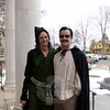 """Film buffs were invited to """"dress the part"""" for the red carpet at the special screening of Gone With The Wind on November 30 at Edmond Town Hall. Laurie and Jim Borst dressed a characters from the film. (Bobowick photo)"""