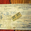 Gas ration papers and gas ration coupons are among the paperwork found with Mr Murdy's antique vehicle. (Crevier photo)