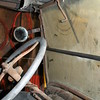 A hand crank inside the cab of the Model T controls the one, small, driver's side windshield wiper. (Crevier photo)