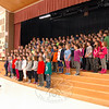 Hawley Elementary School music teacher Brian Kowalsky, left, led this school's third and fourth grade students through a rehearsal for their winter concert on Tuesday, December 2, at Reed Intermediate School. (Hallabeck photo)