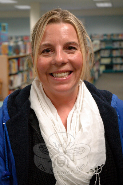 The Newtown Bee: What career (other than you own, if you have one) do you think you would be great at? Heidi Skowronski: Working with kids, maybe at a preschool. (Hallabeck photo)
