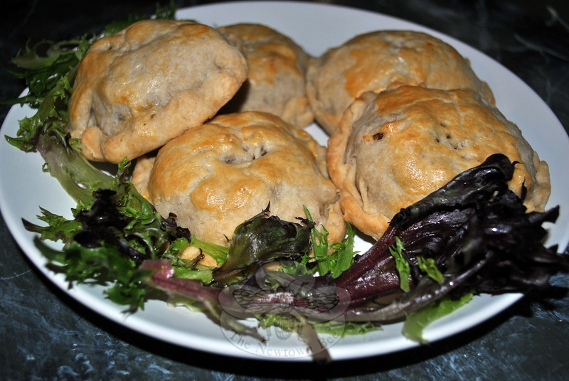 Miniature pies, also known as hand pies, and baked freeform, are a perfect grab and go meal when filled with savory components. (Crevier photo)
