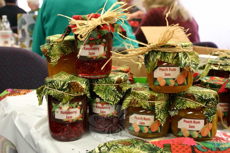 While not greens, homemade jams and other treasures are also part of the regular offerings at The Garden Club of Newtown's Annual Greens Sale. (Hicks photo)