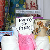 While no fabrics from Chintz-N-Prints were used in the filming of the 1980s-era teen film Pretty in Pink, this sign greeting customers as they enter the store is a subtle reminder that more and more television and film crews are flocking to the Newtown shop to peruse the vintage selections for set dressing. (Voket photo)