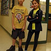 Hawley Elementary School fourth graders Alex Moore and Bella Gerace on Friday, January 23, the day before they both participated in the NBA-sponsored FIT Dribble Swish & Dish regional competi-tion. (Hallabeck photo)