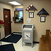 A receptacle designed for the proper disposal of unused and unwanted prescription drugs  is back in service at the police station lobby at 3 Main Street. The gray receptacle, which is similar to a US mail drop box for letters, had been temporarily out of service. (Gorosko photo)