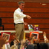 "Bill Nye ""The Science Guy"" spoke to Sandy Hook School Elementary School students in the gymnasium on Tuesday, January 13. (Hallabeck photo)"