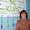 """Tricia Guiry of Bethel is the new manager of Ben's Bells Newtown, a position she accepted in November. Building on what she called the """"phenomenal"""" job done by volunteers the past two years, Ms Guiry will oversee the administration and community outreach for the studio. (Crevier photo)"""
