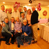 "Eleanore N. Farrell was surrounded by her family members at Roberto's Restaurant in Monroe on Saturday, January 9. She marked her 100th birthday two days later. Leo and Eleanore Farrell moved to Newtown from Stratford to raise their family, according to son Dennis Farrell. The pair had 12 children. Leo passed away in 1971. The family matriarch was honored on Saturday with cake, commemorative presents, and birthday cheer while surrounded by roughly 85 offspring. She has 27 grandchildren and 46 great-grandchildren. ""Happy birthday Gigi,"" one great-grandchild said after the cake was presented. Pictured with Ms Farrell are her children. In front from left are Jeanne Farrell, Sharon Farrell, Norene Casey, and Pat Hough. Standing in the back from left are Michael Farrell, Peter Farrell, Jeffrey Farrell, Bill Farrell, Bryan Farrell, Eleanore Blewett, and Dennis Farrell. (Hallabeck photo)"