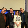 "From left, Rabbi Shaul Praver, the Reverend Rob Schenck, director Abigail Disney, and the Reverend Matt Crebbin pose for a photo after greeting attendees, following the January 10 regional premiere screening of Ms Disney's documentary, The Armor of Light, at Newtown Congregational Church. The Armor of Light follows the journey of pro-life advocate Rev Schenck of Faith and Action in Washington, DC, as he questions whether evangelists can be pro-life and pro-gun, and the advocacy of Lucy McBath against ""Stand Your Ground"" laws, following the shooting death of her 17-year-old son, Jordan. Ms McBath, who considers herself a Christian and is pro-choice, and Rev Schenck meet and decide to work together ""as they bravely attempt to make others consider America's gun culture through a moral lens,"" according to the  <a href=""http://www.armoroflightfilm.com"">http://www.armoroflightfilm.com</a> website. Approximately 100 people attended the Sunday afternoon event. The public was invited to view the film and discuss differing viewpoints on gun violence afterward. The documentary will be shown on PBS May 10, for those who were unable to attend. Any group wishing to host a screening of the documentary can find information at the website. (Crevier photo)"