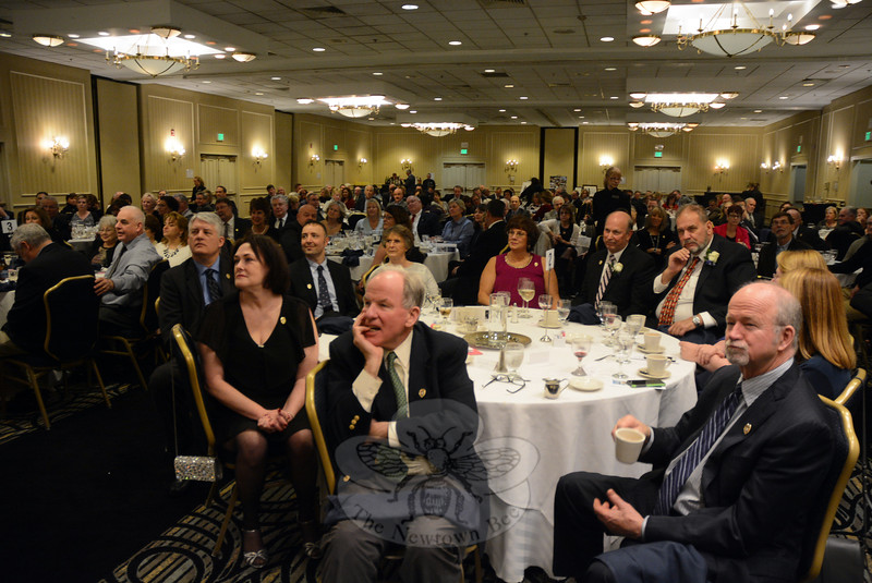 Approximately 175 people attended Michael Kehoe's January 9 retirement party at the Crowne Plaza Southbury, which honored his nearly 15 years as Newtown's police chief during a 37-year career as a Newtown police officer. (Gorosko photo)