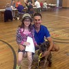 Steve Landau and daughter Olivia posed with their dog Juliette during the annual rabies clinic held at Edmond Town Hall on Saturday, June 20, hosted by Canine Advocates of Newtown and Mt Pleasant Hospital for Animals. (Gallagher photo)