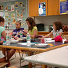 Campers at Newtown Parks and Recreation's Knitting Camp work on a project during the camp's run, between June 23 and June 27. (Gaston photo)