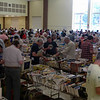 The cafetorium of Reed Intermediate School on the first day of the five-day book sale. (Fimmano photo)
