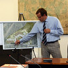 Landscape architect Robert Sherwood describes the landscaping elements for a large apartment building proposed for a Washington Avenue site in a project known as The River Walk at Sandy Hook Village. (Gorosko photo)