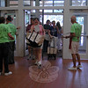 Friends of the Library volunteers let customers into the book sale at 9 am on Saturday. (Fimmano photo)