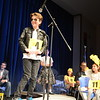 One by one, spelling bee participants — including Max DiMeglio, shown here — stepped to the micro-phone to spell their words, at times with help from team members. (Bobowick photo)