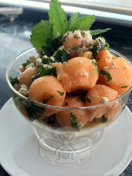 Slice off a wedge or turn it into a savory parfait: muskmelon, or cantaloupe as many varieties are more commonly known, tossed with mint and blue cheese in a sweet and tangy dressing is a great start to a summer meal. (Crevier photo)