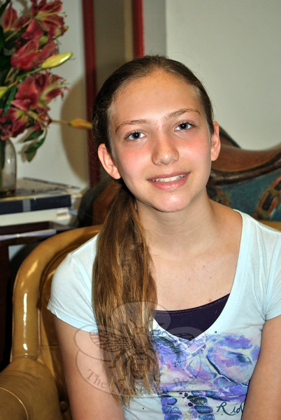 Sabrina Boccuzzi, 13, will lead three craft programs for 'tweens at C.H. Library this summer. A member of Girl Scout Troop 55005 in Newtown, Sabrina is presenting the programs of the requirements to qualify for the Girl Scout Silver Award. (Crevier photo)