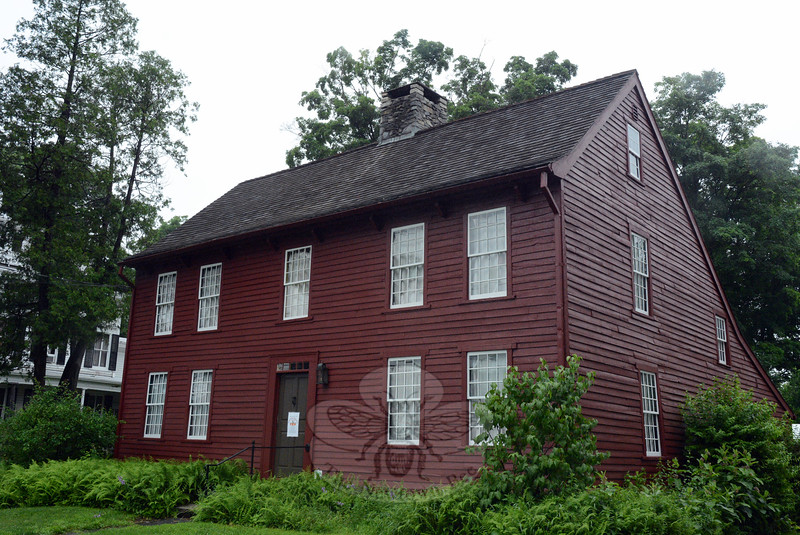 The Matthew Curtiss House at 44 Main Street is the museum of and headquarters for Newtown His-torical Society. It was the stepping-off point on Saturday, June 27, for the society's self-guided 2015 House & Garden Tour. (Gorosko photo)
