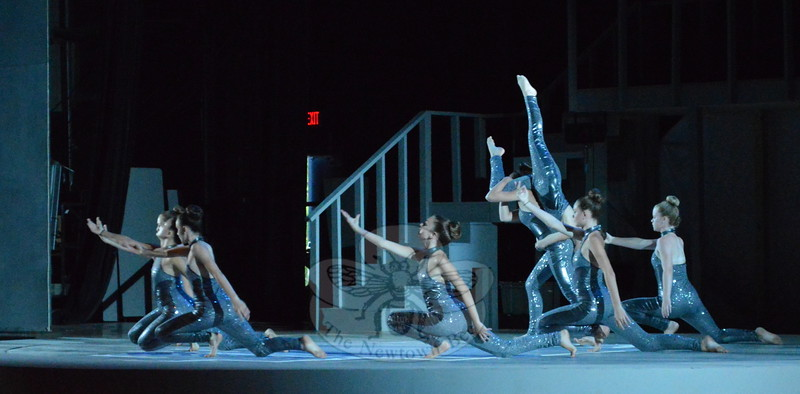 """A group of dancers performing """"Heavy"""" was one of 33 acts at the July 24 dance concert.  (Bee Photo, Hallabeck)"""