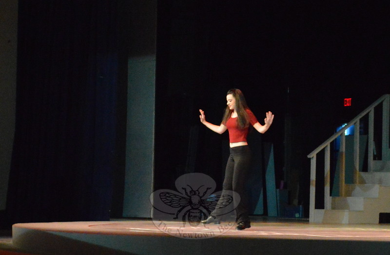"Veronica Eames performed ""Take 5"" during the dance concert.  (Bee Photo, Hallabeck)"