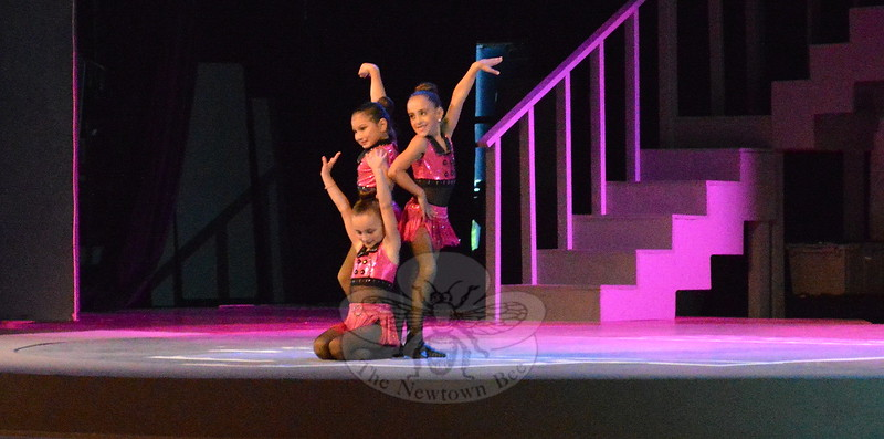 """Dancers Kesslyn Alvarez, Hanna Felicione and Sloane Lilly (listed alphabetically, not necessarily in the order they appear) performed a routine to Taylor Swift's """"Shake It Off.""""  (Bee Photo, Hallabeck)"""
