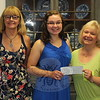 The Scholarship Committee of Newtown Visiting Nurse Association recently presented a scholarship check to Haley Malin, who has met the requirement for the honors. On July 28, Haley was presented a $2,500 Janice Van Syckle Scholarship Award. The Van Syckle Schol-arship is one of three awarded annually by the local Visiting Nurse Association chapter to students entering a nursing program awarding an RN or BSN degree. A 2013 graduate of Newtown High School, Haley is about to begin the clinical portion of the degree work. She is a student in the University of Connecticut nursing program. Her clinicals will have her working one day a week at a prison, and one day each week at a nursing home. From left is Scholarship Committee member Margreta Kotch, Newtown VNA President Mary Tietjen, Haley Malin, Scholarship Committee Chair Anna Wiedemann, and Maureen McLaughlin, another committee member.  (Bee Photo, Hicks)