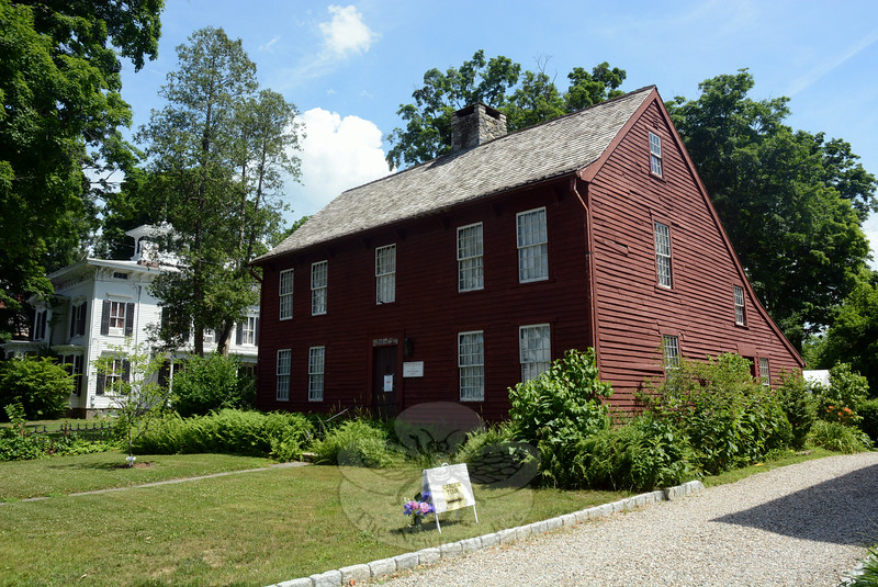 The 1750 Matthew Curtiss House at 44 Main Street, which is the museum and headquarters of Newtown Historical Society, was the stepping-off point for the society's 18th Annual House & Garden Tour on Saturday, June 28. Participants obtained maps there of the houses and gardens on display. The event is a fundraiser for the society. (Gorosko photo)